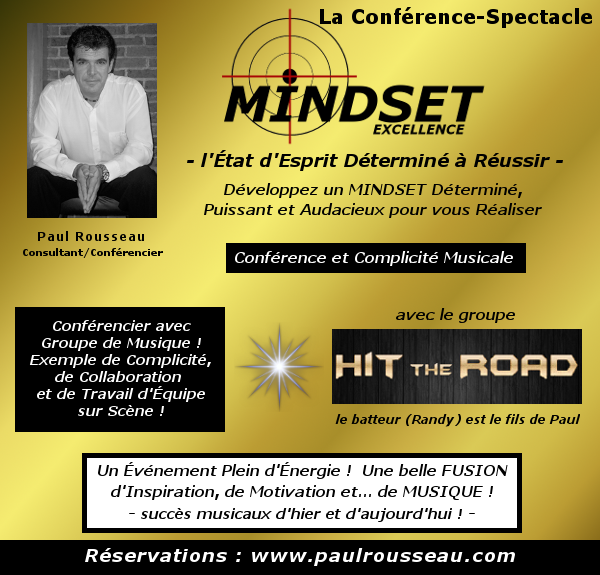Conférence Spectacle MINDSET EXCELLENCE
